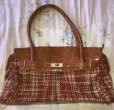 Malissa J Bag Orange Wool Effect Vintage Feel Carpet Style