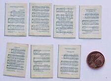 Notenblätter Miniatur 1:12  Zubehör Puppenstube Diorama Setzkasten