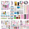 Multi Style Acrylic Powder Liquid Nail Art Set Glitter UV Gel Glue Tips Pro Kits