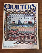 Quilter's Newsletter Magazine - October 1995  No. 276
