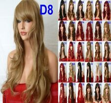Red Natural Curly Straight Wavy Fashion Costume Party Women Ladies Red Wigs