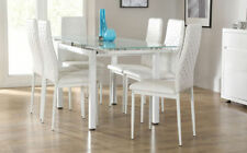 Unbranded Chrome Contemporary Table & Chair Sets