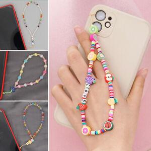 Phone Chain Strap Charm Lanyard Fashion Ceramic Beaded Cord Bohemia Key Holder