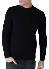 Mens Duck and Cover Beam Crew Neck Jumper in Black From Get The Label XL DC2F111430BLK248