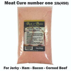 Meat Cure Salt #1 (6.25%) - 450g Jerky Ham & bacon Insta-cure, pink salt, Curing
