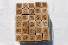 30 One Inch D.O.T.S. Stamp Theme Holiday's Crafts Stamping & Embossing Stamps