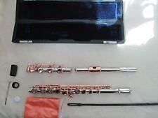 17 open flute golden colour plated key / cupronickel body