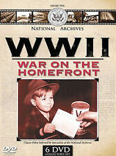 WW II: War on the Homefront National Archives Classic Films 6 DVD's Set Collecti