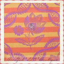 BonEful Fabric Cotton Amy Butler Charm Flower Orange Purple Damask Stripe Scrap