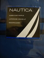 New Nautica River Bend Blue Queen Bed Skirt