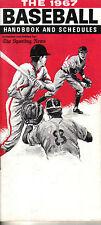 1967 The Sporting News Baseball Handbook and Schedules