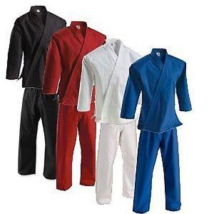 BEST NEW Karate Gi pants OR Karate Jacket top Black OR White size 0000 through 9