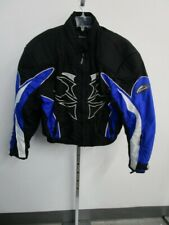 Mens L Hein Gericke Safe Jacket Padded Motorcycle Racing Black Blue Tribal