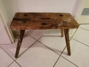 Alter Hocker Schemel Holz Tritthocker