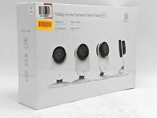 New Yi Home Camera Family Pack 1080p Security Cameras 4-Pack - White -Nr1706