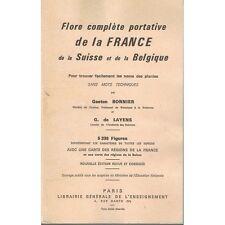FLORE de la FRANCE la SUISSE et la BELGIQUE de BONNIER et De LAYENS 5338 Dessins