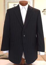 NEW Stunning Hickey Freeman Mens Blue Stripe 2 Btn Suit Sz 40 41 42 R