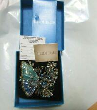 HEIDI DAUS MADAM MAGNIFICENCE Enamel Butterfly Floral Crystal Brooch Pin IN BOX