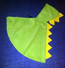 Umhang Fleece DRACHE, Baby Kleinkind, Dinosaurier Kapuze Cape Kostüm Fasching