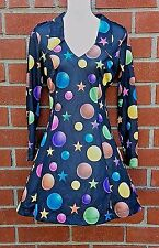 Betsey Johnson Vintage Dress 90's RARE Stars & Planets Design Fit Flare Sz S XS