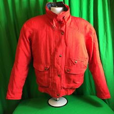 VINTAGE ANDY JOHNS WOMENS MEDIUM REVERSIBLE RED/PLAID  JACKET COAT T23