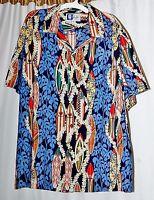 RJC Ltd Men XL Hawaiian Shirt Surfboards Floral *Made in Hawaii*