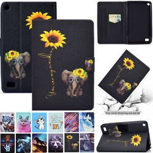 """Flip Leather Stand Case Cover Fr Amazon Kindle Fire 7 HD 8 10 7"""" 8"""" 10.1"""" Tablet"""
