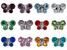 Studex Sensitive 8mm Butterfly Birthstone Crystal Stainless Steel Stud Earrings