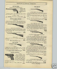 1925 PAPER AD Daisy Water Pop Air Rifle BB Gun Lever Action Repeater Bayonet