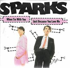 """45 TOURS / 7"""" SINGLE--SPARKS--WHEN I'M WITH YOU--1980"""