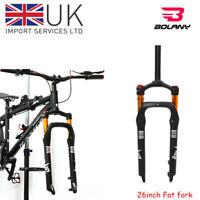 "26*4.0"" Fat Bike Suspension Fork 135mm 1-1/8"" MTB Snow Beach Bicycle 4.0 Tire"