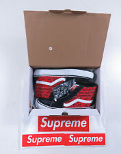 Supreme Vans Diamond Plate Sk8-Hi Pro Navy And Red SS19 In Hand Size 8