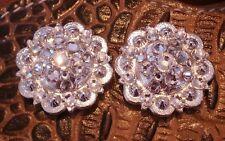 "Set of 2-1.25"" Custom Swarovski Crystal ""Concrete Conchos""-Magnets"