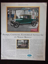 1929 Ford Automobile Advertisement For The Woman Motorist