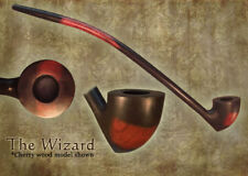 MacQueen Wizard Lord of the Churchwarden Tobacco Pipe Smoke Rings - Cherry Wood