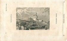 Panorama du port de Saint-Malo Bretagne  GRAVURE ANTIQUE OLD PRINT 1839