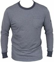 New G-Star Raw Mens Top Long Sleeves In Mazarine Blue/White Colour Size M