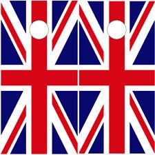 Cornhole Wraps Union Jack British Flags Vinyl Decal Wraps 2 pack Cornhole Decals
