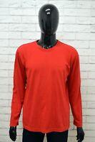Maglia WRANGLER Uomo Taglia Size L Maglietta Shirt Man Cotone Rosso Manica Lunga