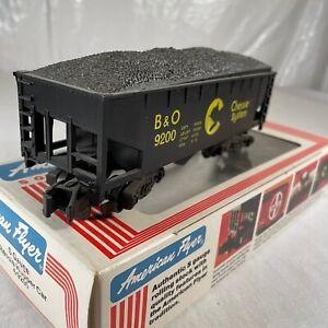 American Flyer 4-9200 S Scale Chessie B&O 2-Bay Hopper w/Coal Load In Box