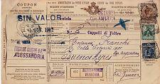 Bollettini Pacchi 2,70 lire(17)+floreale(70+71) per Buones Aires-1902