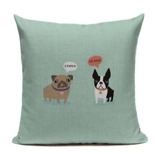 Boston Terrier I Farted I Know B6 Cushion Pillow Cover French Bulldog Pet Funny