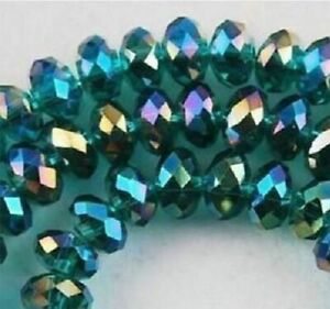 Wholesale faceted 430pcs small round glass crystal 3.4mm beads