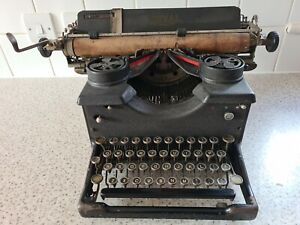 Vintage  Royal Typewriter Model 10? Complete with Glass Panes