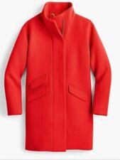 JCrew Cocoon Coat Italian Stadium Cloth Outerwear J8375 $350 Red  6P
