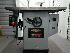 """Delta 10"""" table saw, Unisaw Platinum Edition, a woodworkers dream saw"""