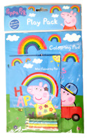 Peppa Pig Play Pack Colouring Pad Book Colouring Pencils Activity Arts & Crafts