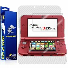 ArmorSuit  New Nintendo 3DS XL (2015) Screen Protector + White Carbon Fiber Skin