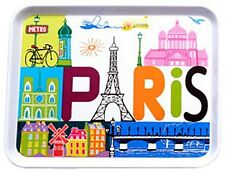 """Tray  (8"""" x 11"""") - """"Paris"""" - by Fox Trot, Colorful, Whimsical Images of Paris"""