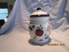 Princess House 2pc Orchard Medley Ceramic Medium Canister
